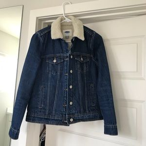 Old navy denim and sherpa jacket